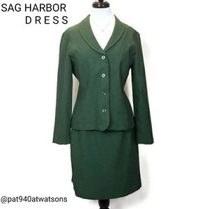 Sag Harbor 2Pc Green Skirt Suit Size 10